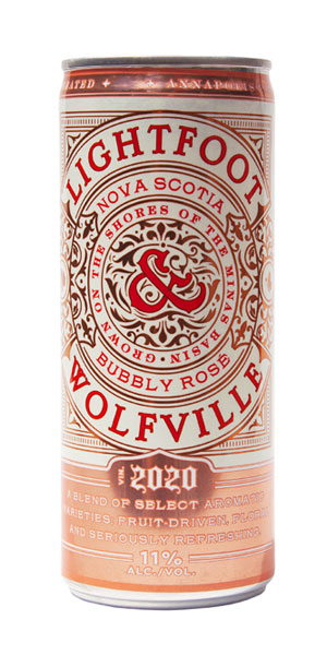 A product image for Lightfoot & Wolfville Bubbly Rose Can